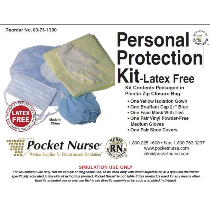 03-75-1300 Pocket Nurse® Personal Protection Kit - Latex Free