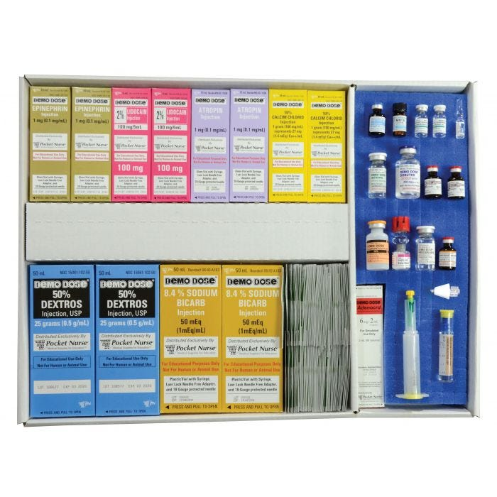06-44-9904P Pocket Nurse® Crash Cart Drawer 1 - Refill Kit
