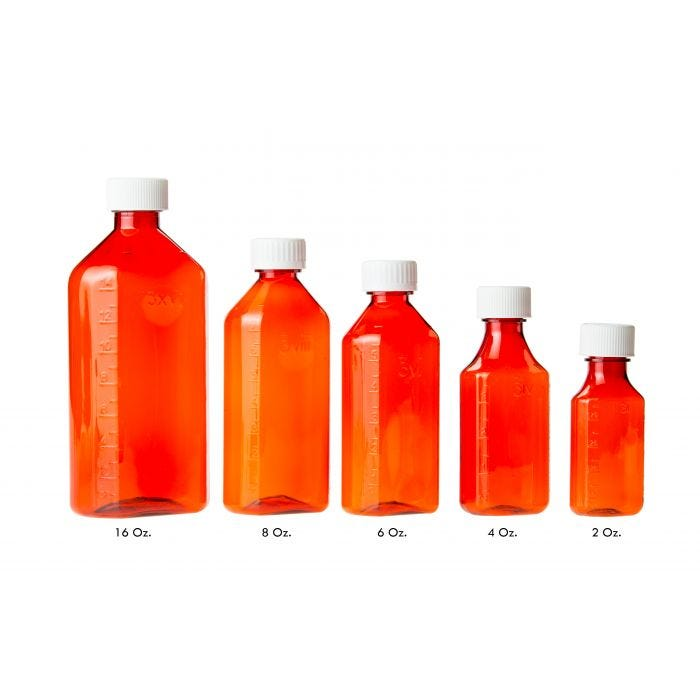 0cb4a587d6f8 06-69-3820 Pocket Nurse® Amber Plastic Oval RX Bottles with Child-Resistant  Caps