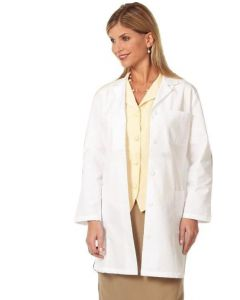 01-77-3360 White Female Lab Coat