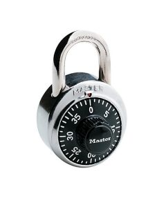 01-77-3672 Master Lock® Combination Padlock 3 Digit Dialing - Black/Chrome