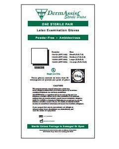 03-47-1040 DermAssist® Sterile Pairs Powder-Free Latex Exam Gloves