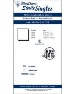 03-47-1090 NitriDerm® Sterile Singles Powder-Free Nitrile Exam Gloves