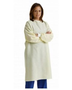 03-75-1204 Isolation Gown Yellow Latex Free Unisex Reusable