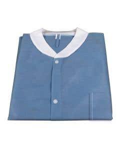 03-75-2010 Disposable Blue Lab Jacket