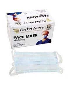 03-75-2201 Pocket Nurse® Exam Face Mask with Earloop