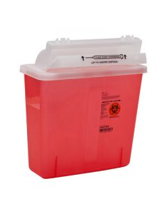03-78-8508 SharpSafety™ Safety In-Room Sharps Container Counterbalance Lid - 5 Quart