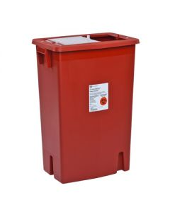 03-78-8980 SharpSafety™ Sharps Container with Sliding Lid - 8 Gallon