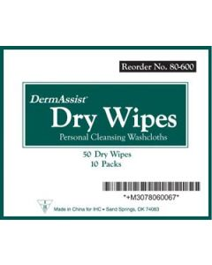 03-85-8060 Innovative Healthcare Corporation DermAssist® Dry Wipes
