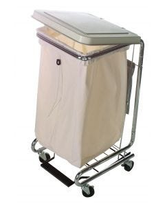 04-12-2134 Poly-Cotton Hamper Bag with Draw Cord 44 Gallon Latex Free