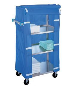 04-25-332 Stainless Steel Linen Cart with Cover
