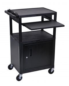 04-25-4224 Media Cart with Cabinet