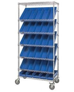 04-25-8223 Slanted Shelving Unit 18 x 48 x 74 Mobile