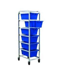 04-25-8228-BLU Mobile Rack with 6 Storage Tubs