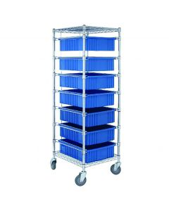 04-25-8230-BLU Mobile Rack with 7 Storage Tubs