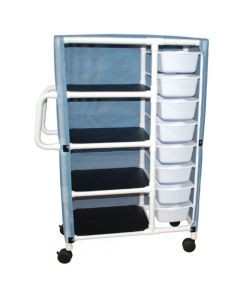 04-25-8532 Graham-Field Combo Supply Cart with 8 Bins and  Shelves, Cover included