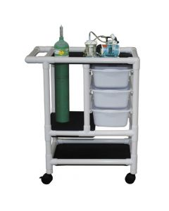 04-25-8536 Graham-Field Emergency Crash Cart with 3 pull out Storage Tubs, No Cover