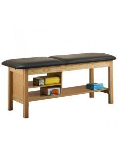 04-50-1030 Clinton Treatment Table with Shelf and Storage-Backrest
