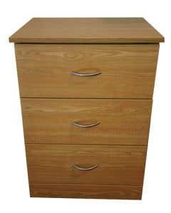 04-50-2001 Refurbished 3-Drawer Bedside Cabinet with Castors
