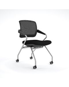 04-50-3042-BLK Mid Back Chair with Arms