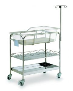 04-50-5014 Pocket Nurse® Stainless Steel Baby Bassinet with Shelves