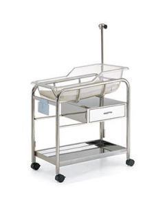 04-50-5015 Pocket Nurse® Stainless Steel Bassinet with One Drawer/Shelf