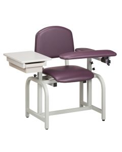 04-50-6602 Clinton Blood Drawing Chair with Flip Arm and Drawer