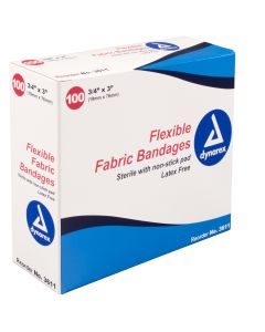 "05-01-3611 Adhesive Fabric Bandages Sterile - 3/4"" x 3"""