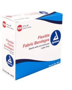 05-01-3612 Adhesive Fabric Bandages Sterile - 1 x 3
