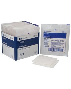 "05-51-2913 Curity™ Cover Sponges - 4"" x 4"""