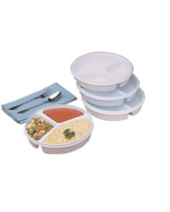 05-68-2700 Plate, Partitioned Scoop with Lid- Sandstone