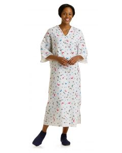 05-74-1673 Deluxe Cut Patient Gown with Ties One Size Fits Most