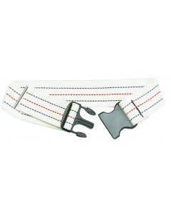 05-76-6220-WH Cotton Gait Belt with Plastic Buckle