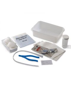 05-87-3141 Dover™ Open Urethral Tray with PVC Catheter, Vinyl, Latex-Free, PVP Solution, 14 Fr