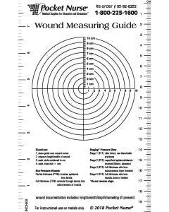 05-92-6252 Pocket Nurse® Wound Measuring Guide