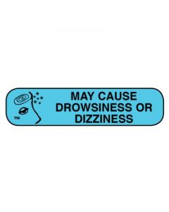 06-31-02 Pharmacy Instruction Label - May Cause Drowsiness/Alcohol