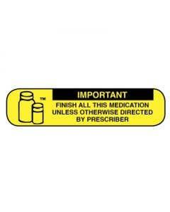 06-31-05 Pharmacy Instruction Label - Finish All Medication