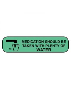 06-31-10 Pharmacy Instruction Label - Should Be Taken With Water Pharmacy
