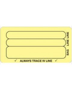 06-31-5601 Always Trace IV Line Piggyback Label