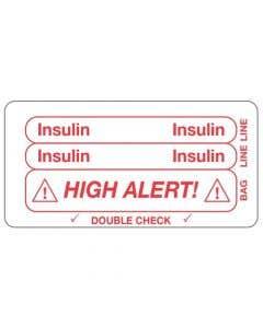 06-31-5603 Insulin/High Alert Piggyback Label