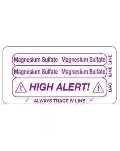 06-31-5604 Magnesium Sulfate/High Alert Piggyback Label