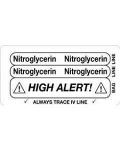 06-31-5630 Nitroglycerin/High Alert Piggyback Label