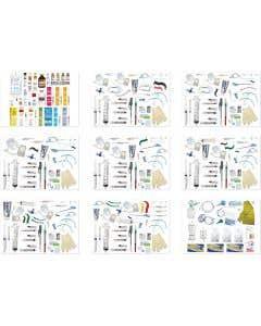 06-44-7501P Pocket Nurse® Complete Pediatric Crash Cart Drawer 1-9 Refill Kits