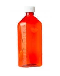 06-69-3820 Pocket Nurse® Amber Plastic Oval RX Bottles with Child-Resistant Caps