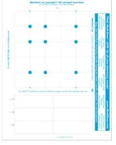 """06-69-4250 LaserLabel™ """"""""25"""""""" Lid-Label® Cover Sheet"""