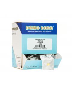 06-93-0053 Demo Dose® CloZAPin (Clorazl) 25 mg tables UD- 100 Pills/Box