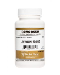 06-93-0084 Demo Dose® Levaqun 500 mg - 100 Pills/Bottle