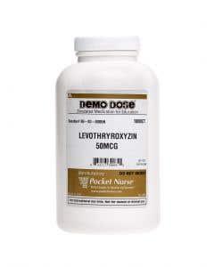 06-93-0085 Demo Dose® Levothryroxyin 50 mg - 1000 Pills/Jar