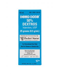 06-93-1109 Demo Dose® 50% Dextros 50mL Simulated Code Drug