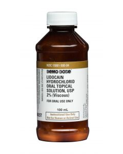 06-93-1356 Demo Dose® Lidocain Hydrochlorid 2% in 100mL - 4oz Bottle